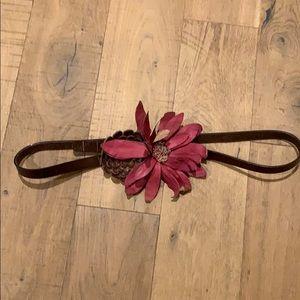 Gorgeous leather floral belt size L